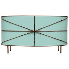 88 Secrets Mint Green Sideboard with Rose Gold Trims by Nika Zupanc