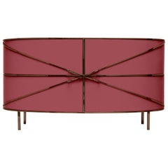 88 Secrets Rose Pink Sideboard with Rose Gold Trims by Nika Zupanc