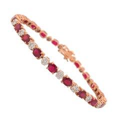 8.80 Carats Ruby Diamond Bracelet