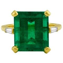 8.83 Carat Emerald and Diamond Ring