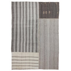 Vintage Hand-Woven Central Anatolian Flat-Woven Kilims, Reimagined
