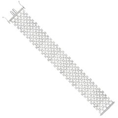 8.91 Carat Diamond Five-Row Link Bracelet
