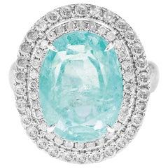8.95 Carat Shimmering Emerald Diamond Wedding Ring