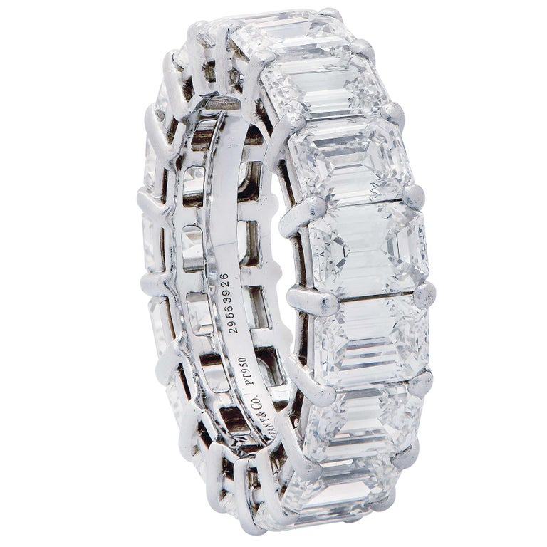 8.98 Carat Tiffany & Co. Diamond Eternity Band in Platinum In Excellent Condition For Sale In Coral Gables, FL