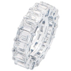 8.98 Carat Tiffany & Co. Diamond Eternity Band in Platinum