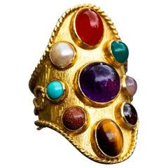 8 Carat Gold Navantra Ring