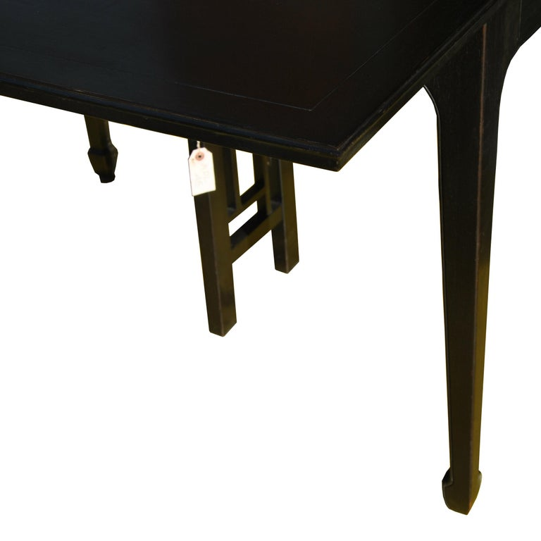 Expandable Vintage Midcentury Baker Michael Taylor Far East Dining Table For Sale 1