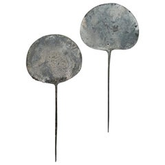8th-11th Century Silver Tupos 'Shawl Pins' Inca Culture, Peru