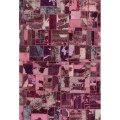 Vintage Overdyed Persian Patchwork Rug, 109567