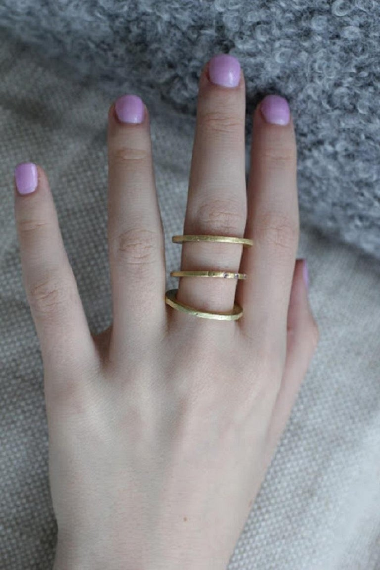 9 Bands in Sterling Silver Wedding Ring Stack Fashion Modern Design For Sale 8