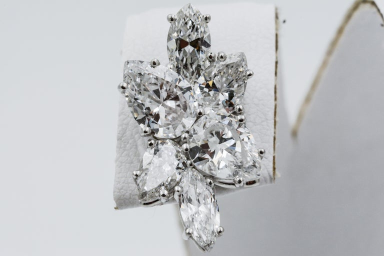 9 Carat Diamond and Platinum 18 Karat White Gold Earrings In Good Condition For Sale In Dallas, TX