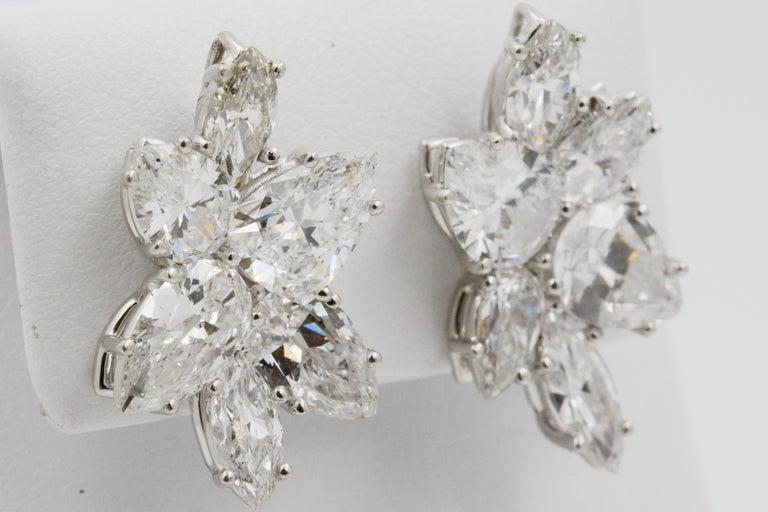 9 Carat Diamond and Platinum 18 Karat White Gold Earrings For Sale 5