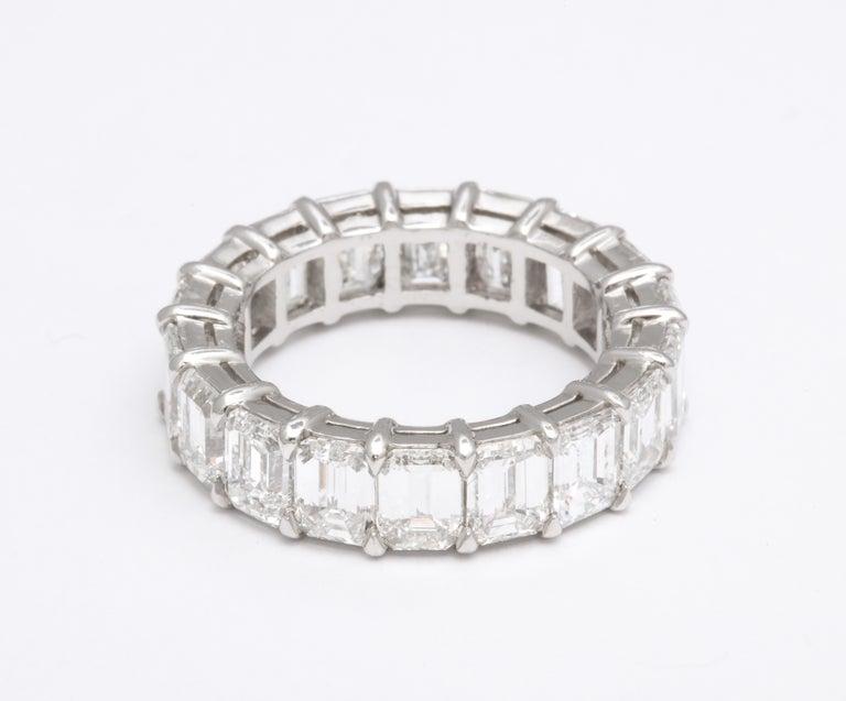 9 Carat Emerald Cut Diamond Eternity Band For Sale 2