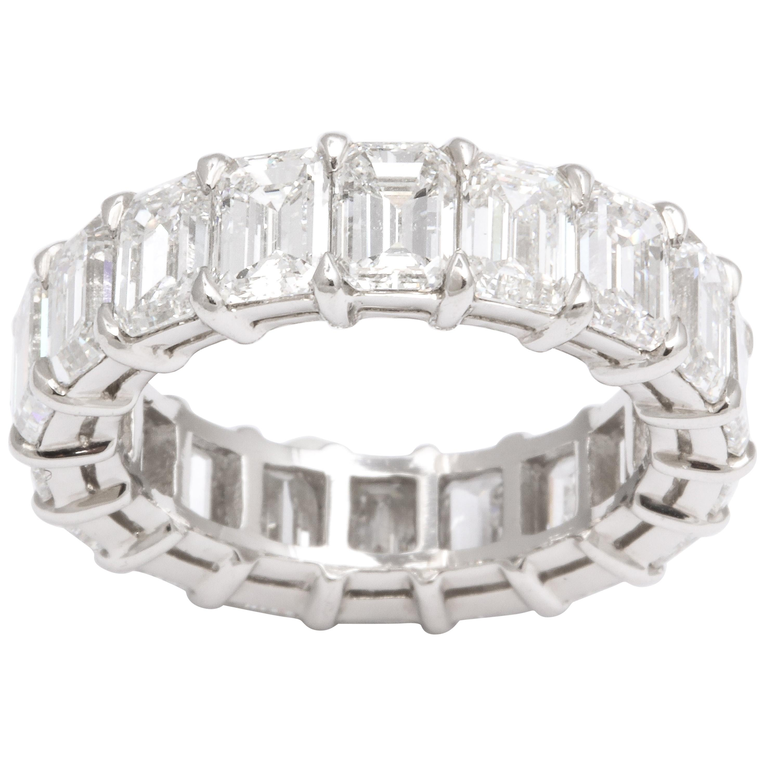 9 Carat Emerald Cut Diamond Eternity Band