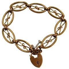 9 Carat Gold Fancy Link Bracelet, Dated circa 1900