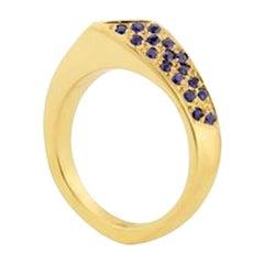 9 Carat Gold Sapphire Royal Blue Ring
