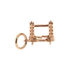 9 Carat Rose Gold Tower Bridge Vintage Charm or Pendant