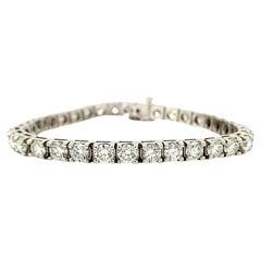 9 Carat Round Diamond Tennis Bracelet