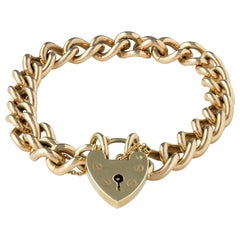 A 9ct Yellow Gold Curb Bracelet