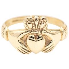 9 Carat Yellow Gold Irish Claddagh Ring