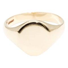 9 Carat Yellow Gold Oval Men's Vintage Signet Ring