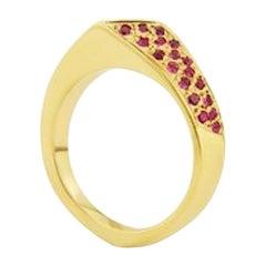 9 Carat Yellow Gold Ruby Ring