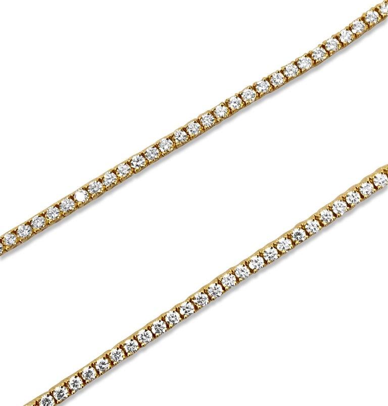 10k solid gold  Diamond Tennis necklace  9 carats of vvs diamonds all natural diamonds