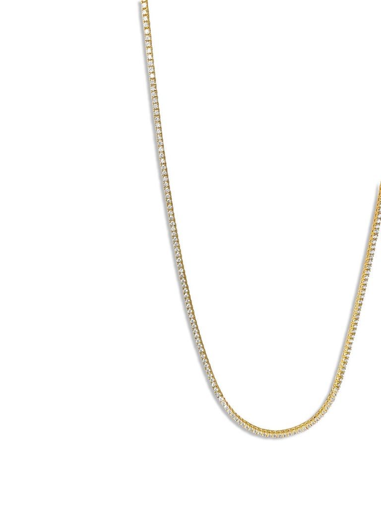 9 Carats VVS Diamond Tennis Necklace For Sale 2