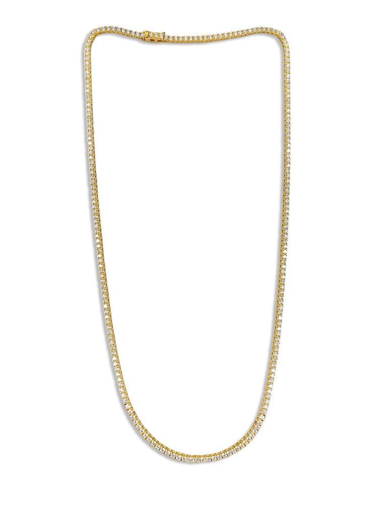 9 Carats VVS Diamond Tennis Necklace For Sale 3