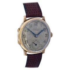 9 Karat Gold Vintage 1930s J. W. Benson London Mechanical Watch