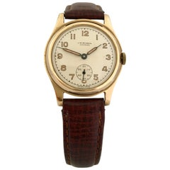 9 Karat Gold Vintage 1950s J. W. Benson London Manual Watch