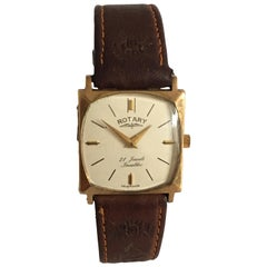 9 Karat Gold Vintage 1970s Rotary Watch