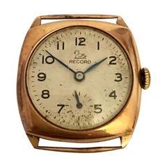 "9 Karat Gold Vintage Record Wristwatch ""No Strap'"