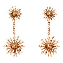 9 Karat Rose Gold Soleil Drop Earrings Natalie Barney