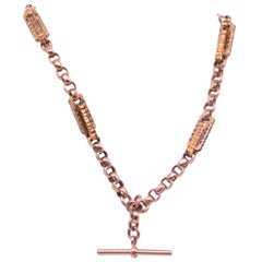 "9 Karat Victorian Chunky Multi-Link Albert Chain, 14.5"", circa 1880"