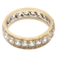 9 Kt Yellow and White Gold Diamond Eternity Ring