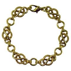 9 Karat Yellow Gold Fancy Link Bracelet