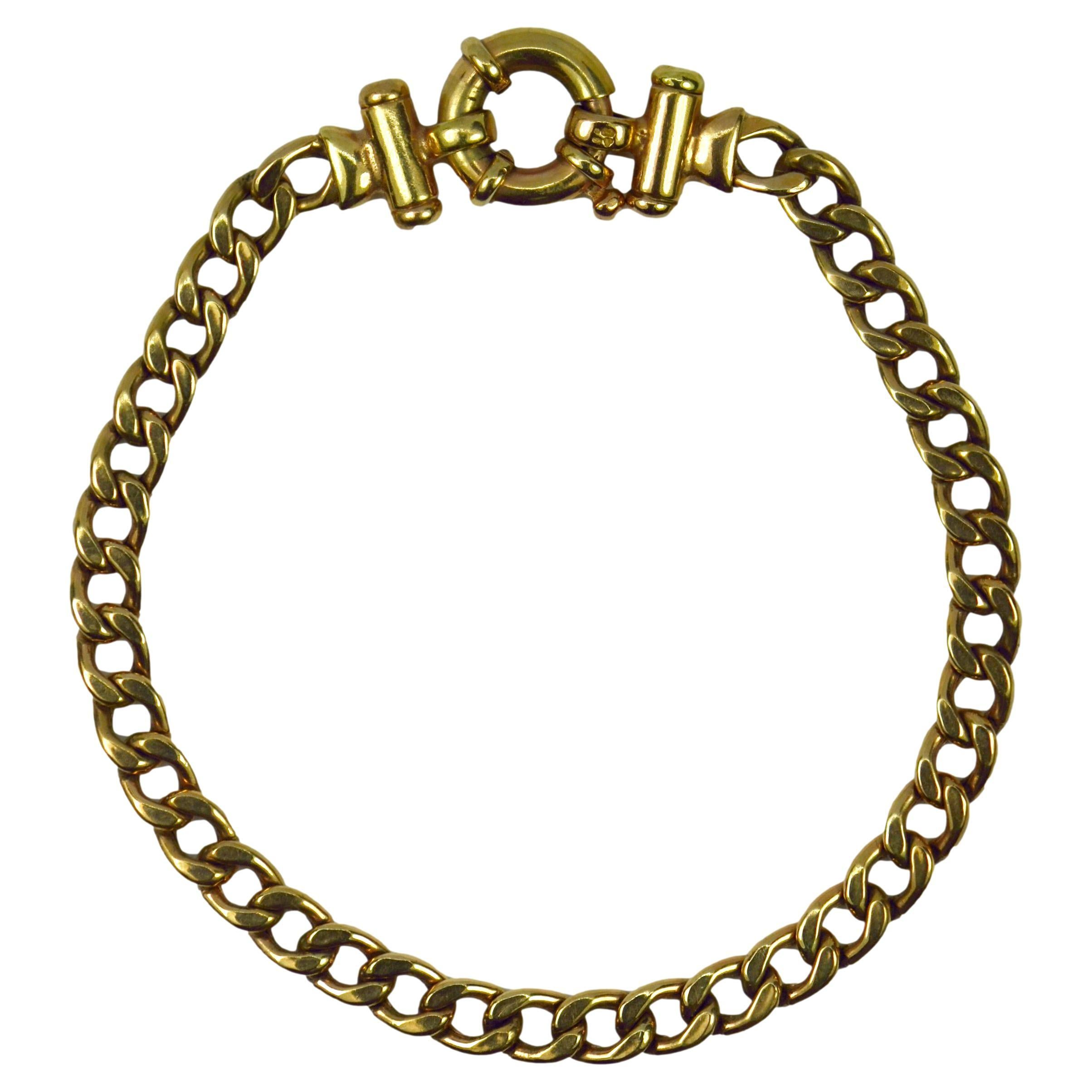 9 Karat Yellow Gold Link Bracelet