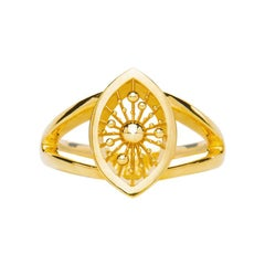 9 Karat Yellow Gold Soleil Cocktail Ring Natalie Barney
