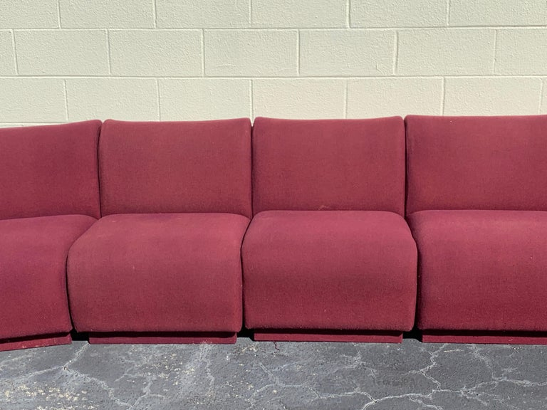 American 9-Piece Modular Living Room Attributed to Milo Baughman for Thayer Coggin For Sale