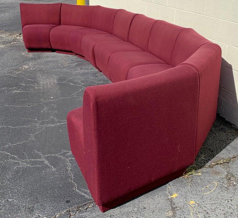 9-Piece Modular Living Room Attributed to Milo Baughman for Thayer Coggin In Good Condition For Sale In Atlanta, GA