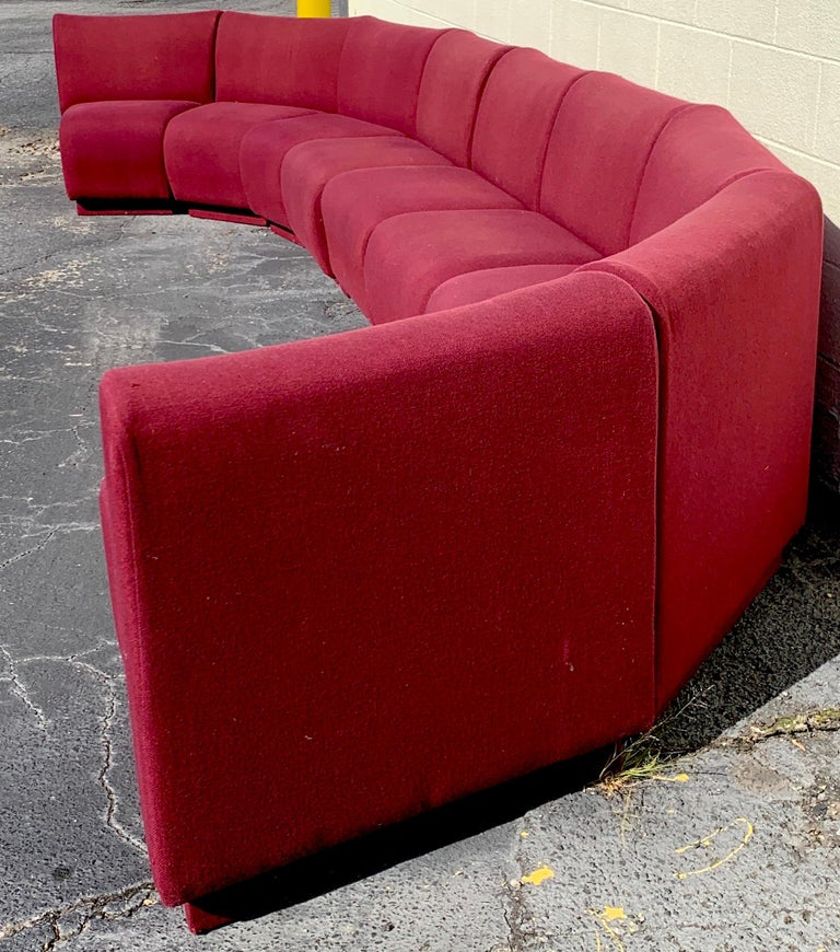 20th Century 9-Piece Modular Living Room Attributed to Milo Baughman for Thayer Coggin For Sale