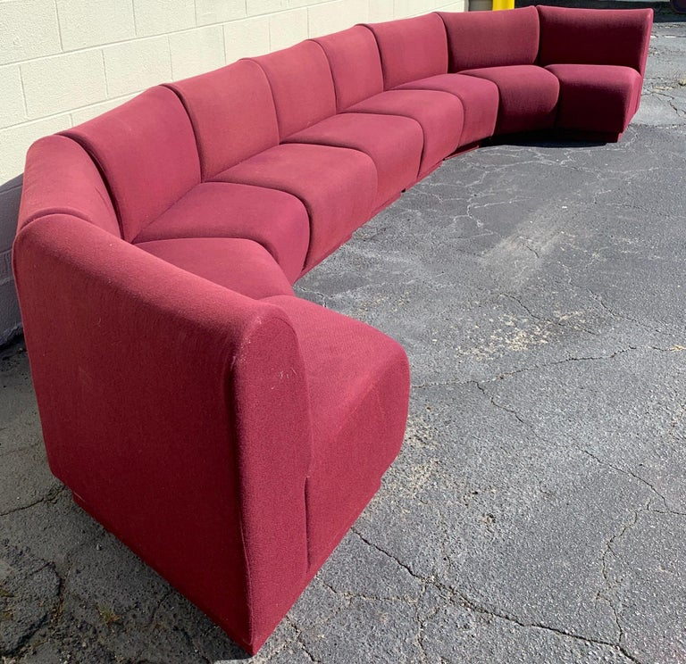 Upholstery 9-Piece Modular Living Room Attributed to Milo Baughman for Thayer Coggin For Sale