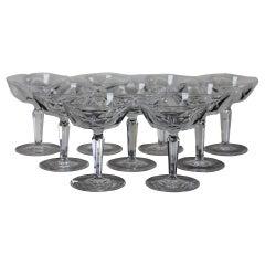 9 Waterford Sheila Cut Crystal Champagne Tall Sherbet Aperitif Digestif Glasses