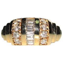 .90 Carat Baguette Channel and French Pave Diamond Band