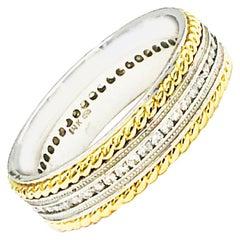 .90 Carat Diamond Eternity Rope Style Wedding Band Ring, Unisex