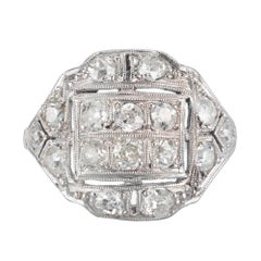 .90 Carat Diamond Platinum Victorian Ring