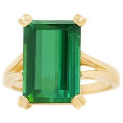 9.0 Carat Green Tourmaline Ring