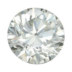 .90 Carat Loose Diamond, Round Brilliant Cut GIA Graded SI1 N Solitaire