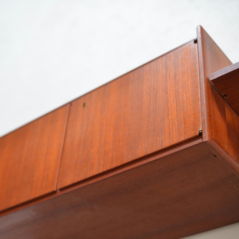 90 Piece Teak Wall Unit by Scandiline, Norway Customizable For Sale 4